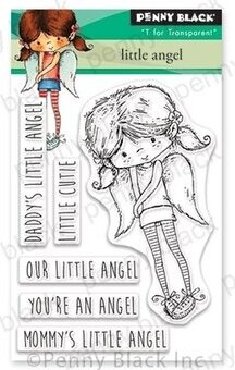 Little Angel Mini - Penny Black Clear Stamp