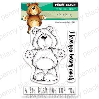 A Big Hug (Mini) - Penny Black Clear Stamp