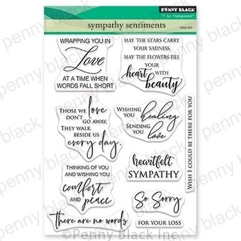 Sympathy Sentiments - Penny Black Clear Stamp