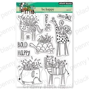 Be Happy - Penny Black Clear Stamp