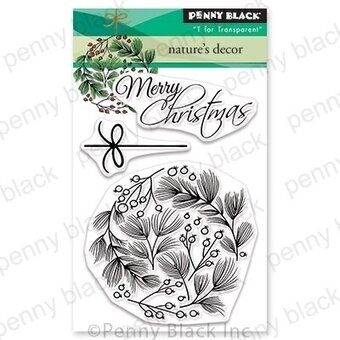 Nature's Decor Mini - Christmas Penny Black Clear Stamp