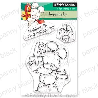 Hopping By Mini - Christmas Penny Black Clear Stamp