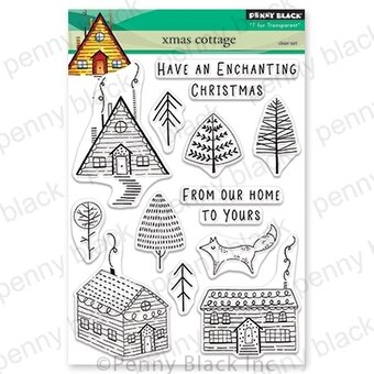 Xmas Cottage - Christmas Penny Black Clear Stamp