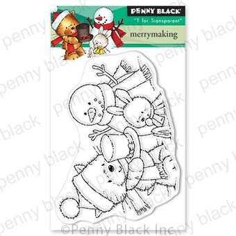 Merry Making - Christmas Penny Black Clear Stamp