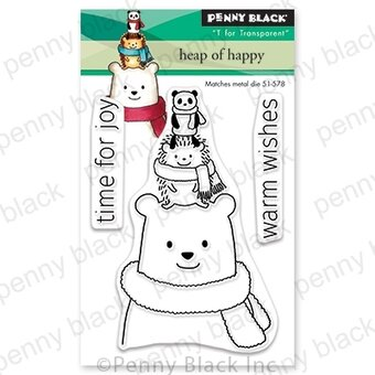 Heap of Happy - Christmas Penny Black Clear Stamp