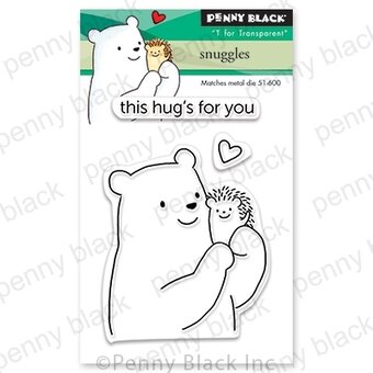 Snuggles Mini - Valentines Penny Black Clear Stamp