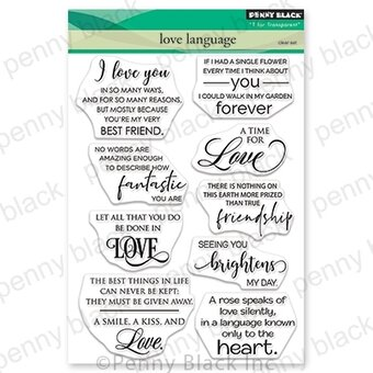 Love Language - Valentines Penny Black Clear Stamp
