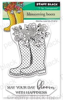 Blossoming Boots Mini - Penny Black Clear Stamp