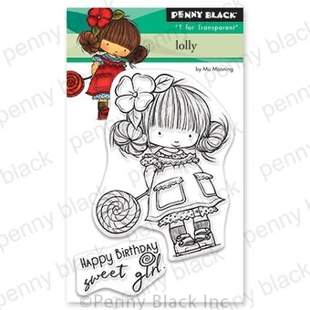 Lolly Mini - Penny Black Clear Stamp