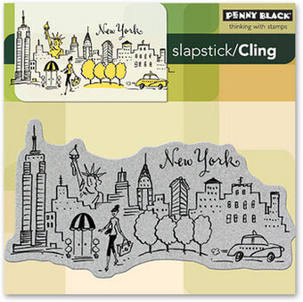 New York - Slapstick Cling Rubber Stamp