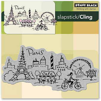 Paris - Slapstick Cling Rubber Stamp