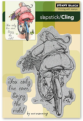 Enjoy The Ride - Slapstick Cling Rubber Stamp
