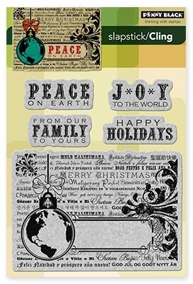 Peace on Earth (Christmas) - Cling Rubber Stamp