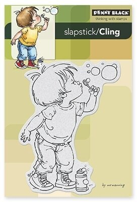 Bubble Boy - Slapstick Cling Rubber Stamp