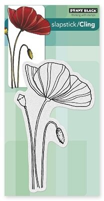 Poppy Time - Slapstick Cling Rubber Stamp