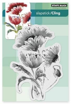 Pop Pop Poppy - Slapstick Cling Rubber Stamp