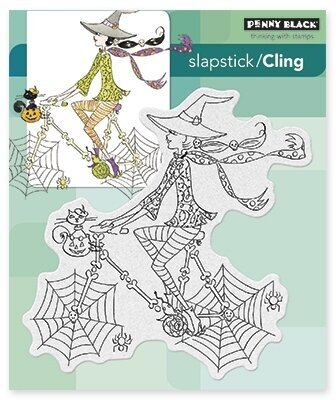 Spinning By - Halloween Slapstick Cling Rubber Stamp