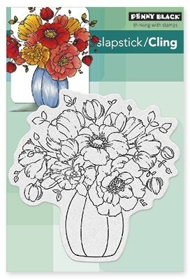 Center-Piece Flowers - Slapstick Cling Rubber Stamp