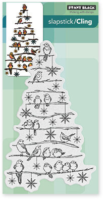 Tree Chirps - Slapstick Cling Rubber Stamp