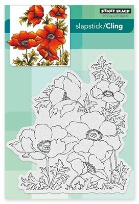 Poppy Gems - Slapstick Cling Rubber Stamp