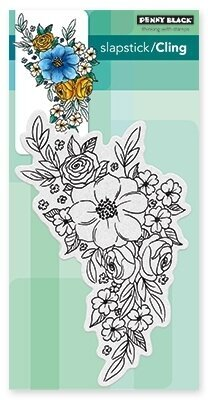 Flower Cascade - Slapstick Cling Rubber Stamp