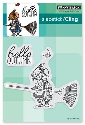 Hello Autumn - Slapstick Cling Rubber Stamp