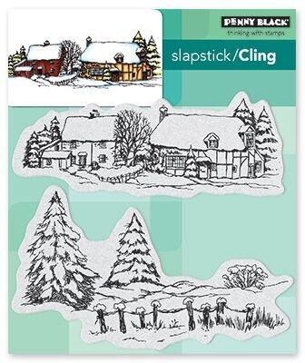 Snow Covered - Slapstick Cling Rubber Stamp
