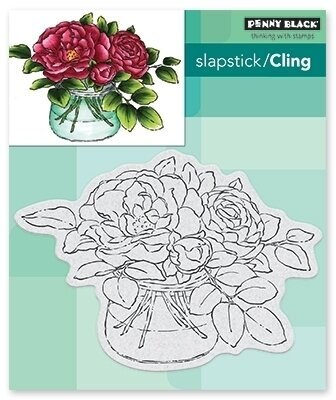 Rose Bowl - Slapstick Cling Rubber Stamp