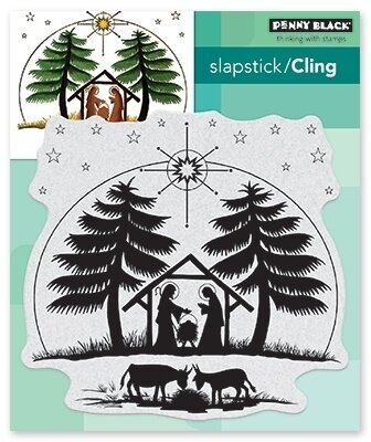 Nativity - Christmas Cling Rubber Stamp