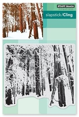 Snow Forest - Cling Rubber Stamp