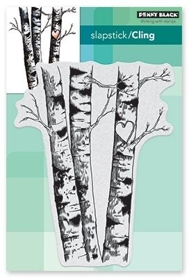 Birches - Cling Rubber Stamp