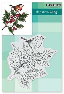 Cheerful Christmas - Cling Rubber Stamp