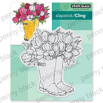 Blooming Boots - Cling Rubber Stamp