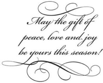 The Gift Of Peace - Rubber Stamp