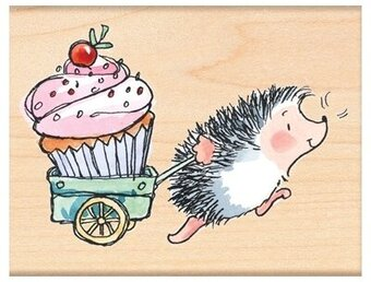 Prize Cupcake - Rubber Stamp