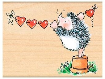 Banner Of Love - Wood Mounted Rubber Stamp