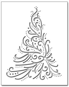 Christmas Themed Penny Black Creative Die Featuring An Elegant Tree