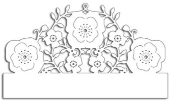 Floral Half Border - Penny Black Craft Die