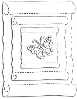 Paper Scroll  - Penny Black Craft Dies