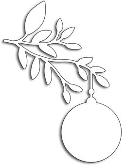 Ornament Branch - Penny Black Christmas Craft Die
