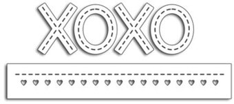 Stitched XOXO - Penny Black Die