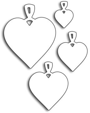 Heart Charms - Penny Black Die