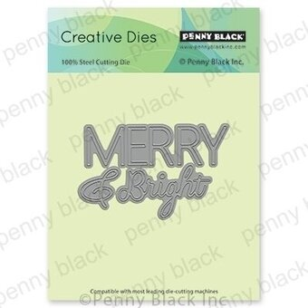 Merry and Bright - Christmas Penny Black Craft Die