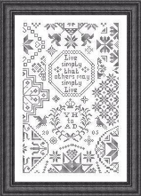 Simple Little Quaker - Cross Stitch Pattern