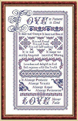 Love With a Capital L - Cross Stitch Pattern