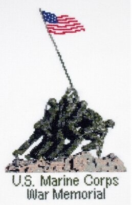 U.S. Marine Corps Memorial - Cross Stitch Kit