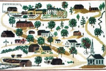 Old Sturbridge Gurshin Sampler - Cross Stitch Kit