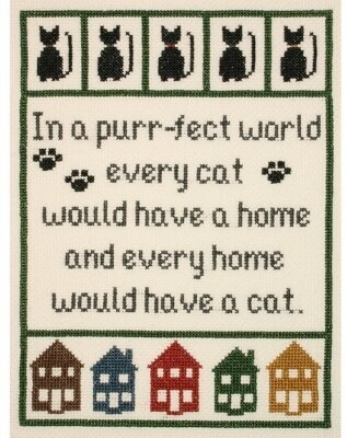Cat Lover's Sampler - Cross Stitch Kit