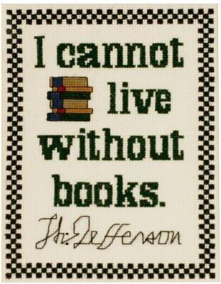 Jefferson's Book Quote - Cross Stitch Kit