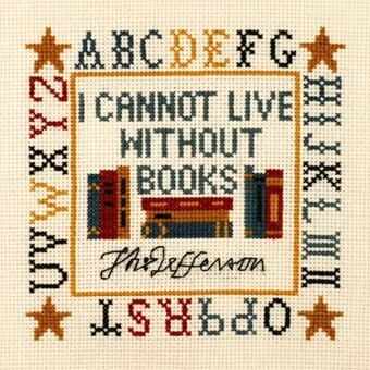 Jefferson Book Quote Sampler - Cross Stitch Kit